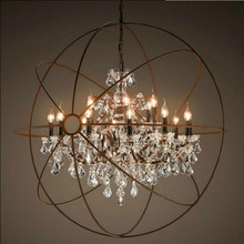 Buy diy crystal chandelier and get free shipping on aliexpress goodapa vintage orbital k9 crystal chandelier lamp diy american home deco living room mozeypictures