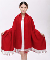 Autumn And Winter Thick Cashmere Scarf Pure Wool Long Scarf Shawl Ms Authentic Korean Dual Big
