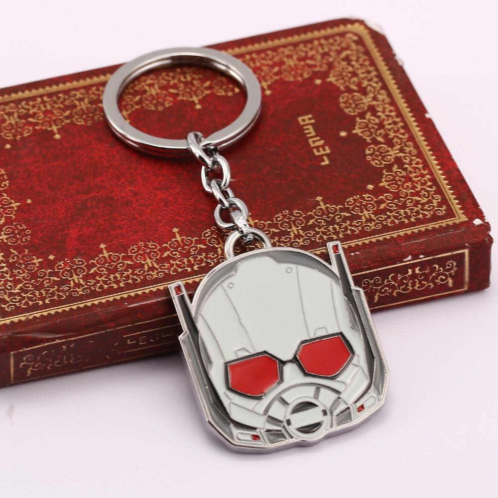 HSIC Cartoon Ant Man Keychain Anime Vision Car Keychain Jewelry Key Holder Llaveros Game Anime Jewelry Trinket Birthday Gifts