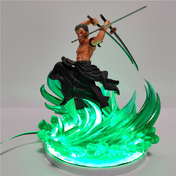 Action Figure One Piece Zoro 3D Led Night Light One Piece Anime Roronoa Zoro Nightlights Color Changing Decoration Home Lamp