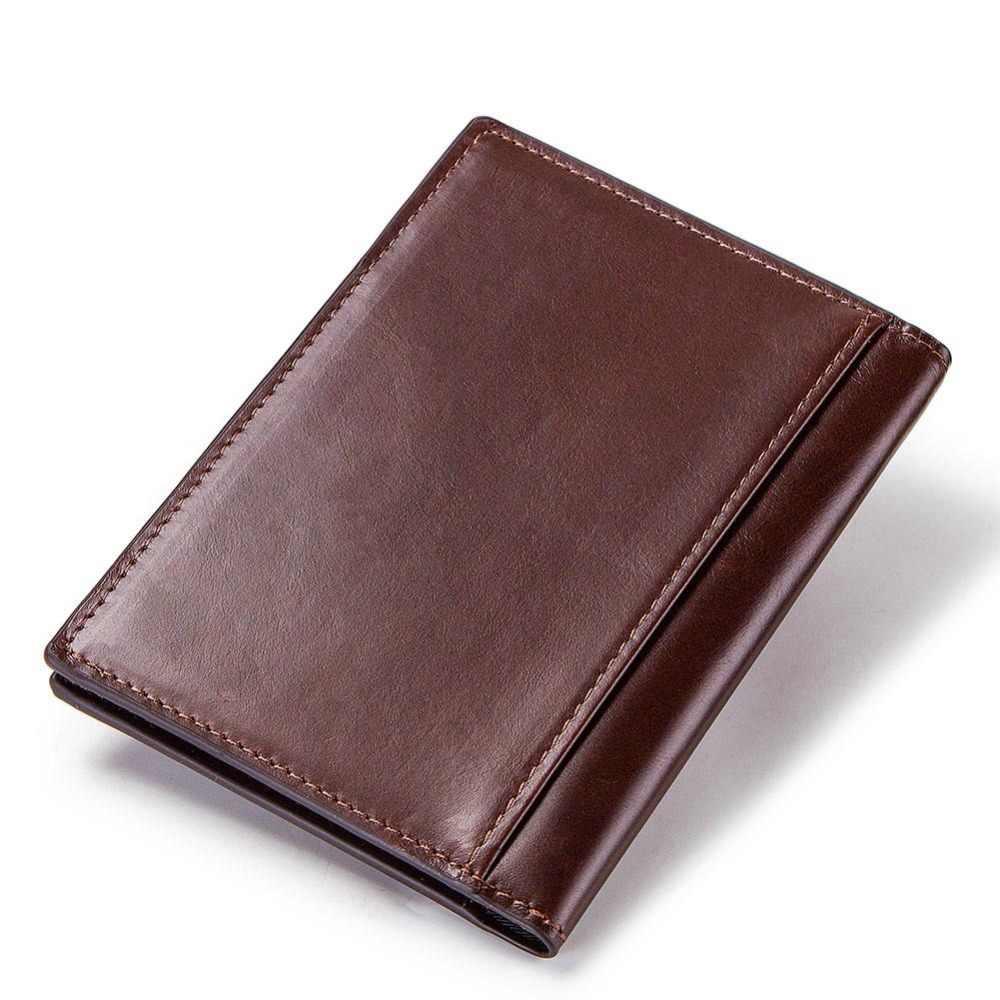 KAVIS Обложка для паспорта из натуральной кожи ID визитница дорожный кошелек для кредиток для мужчин кошелек чехол для вождения Обложка для водительского удостоверения тонкий