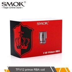 100% Original SMOK TFV12 Prince RBA with Resistance 0.25ohm For TFV12 Prince Tank replacement Atomizer RBA coil head