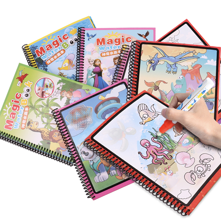 9 Models Magic Water Drawing Book Coloring Book Doodle With Magic Pen Paint Drawing Board Cardboard Paper Kids Toys For Children9 Models Magic Water Drawing Book Coloring Book Doodle With Magic Pen Paint Drawing Board Cardboard Paper Kids Toys For Children