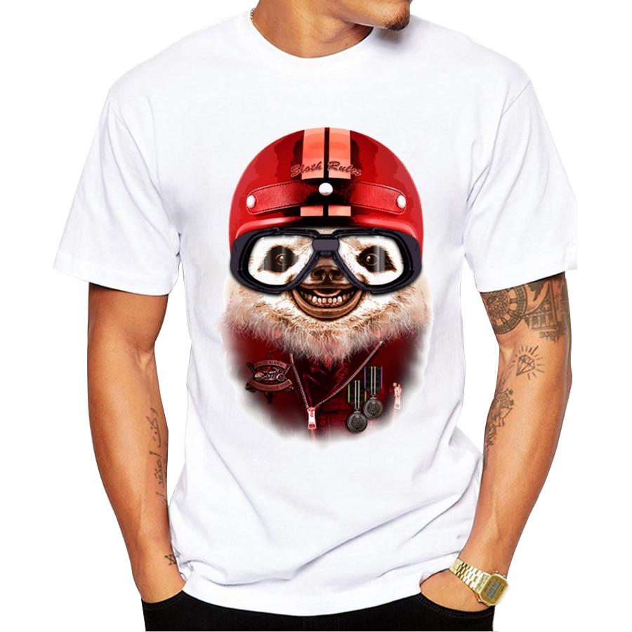 Shirt design rules - 2016 Creative Sloth Rules Design Men Fashion T Shirt Cute Sloth Printed Tops For Boy Short