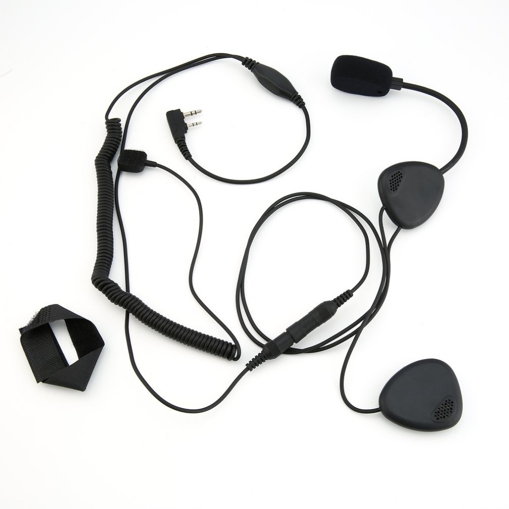 Finger PTT Motorcycle Helmet Headset MIC for Radio Kenwood Retevis TYT Baofeng U