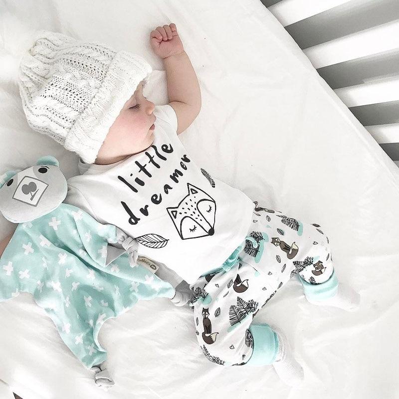 4e1c547a4 pudcoco 0 2Y summer Newborn Baby Boy girl Clothes set little dreamer ...