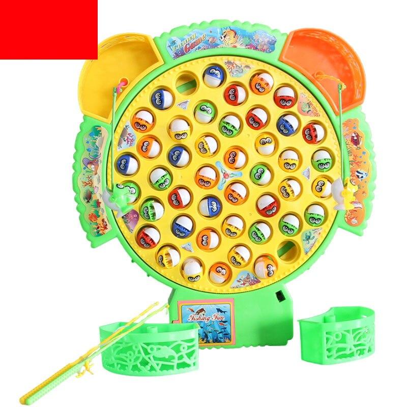 Классическая рыбалка игрушки Набор Обучающие Музыка Электрический вращающиеся игра весел ...