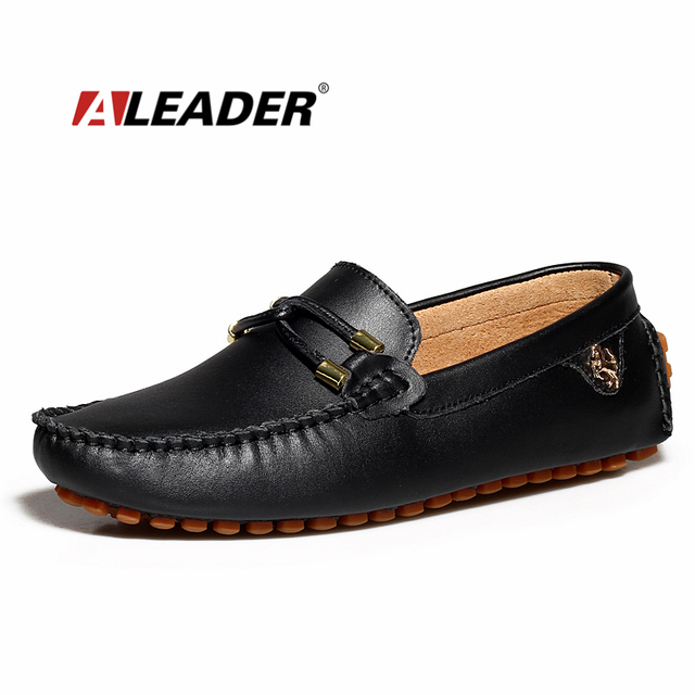 Men's Classic Slip-On Loafer Flat Casual Shoes Leather Moccasin