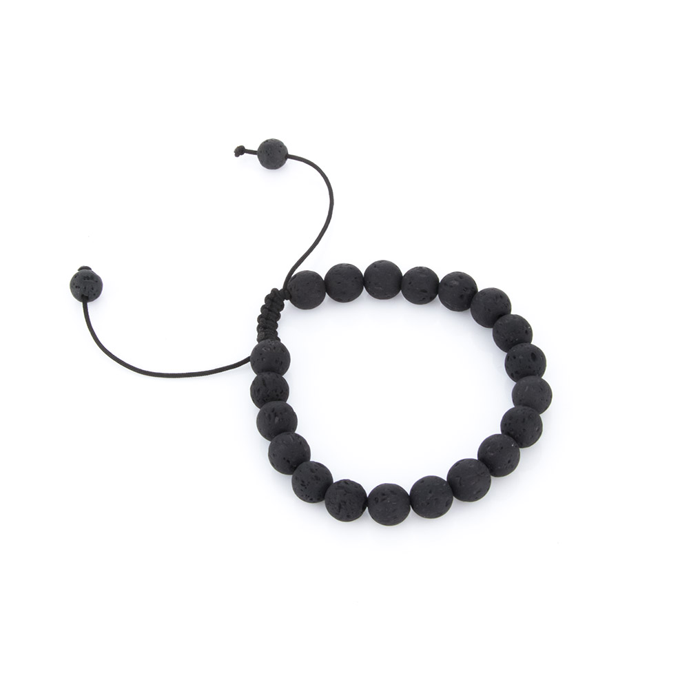 1 Pcs Charm Zwart Natuurlijke Lava Rock Kralen Armbanden Hot Vrouwen Mannen Unisex Stretch Verstelbare Kralen Armbanden Gift