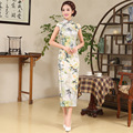 Flower Women Chinese Traditional Dress Lady Elegant Fashion Design Long Cheongsam Sleeveless Evening Dresses Chinese Qipao 89