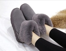 2019 new womens thick-soled winter plush short tube thermal boots thick bottom fashion cotton shoes snow