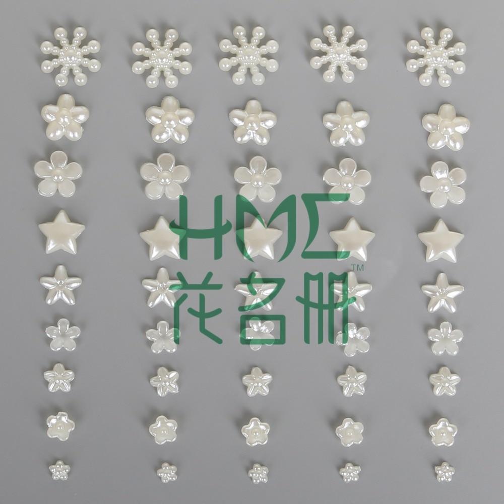 300-600 шт./пакет плоской задней кабошон Imatation Пластик ABS жемчужина цветок для DIY бусины Craft телефон украшения