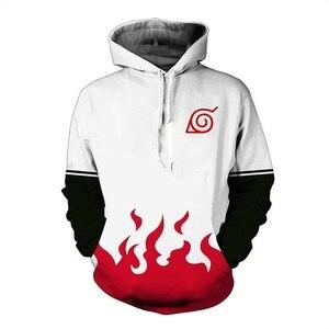 Image 4 - Anime Naruto 3D Hoodies Sweatshirt Sasuke Kakashi Cartoon Casual Harajuku Hoody NARUTO Thin Jacket Coat Streetwear Unisex