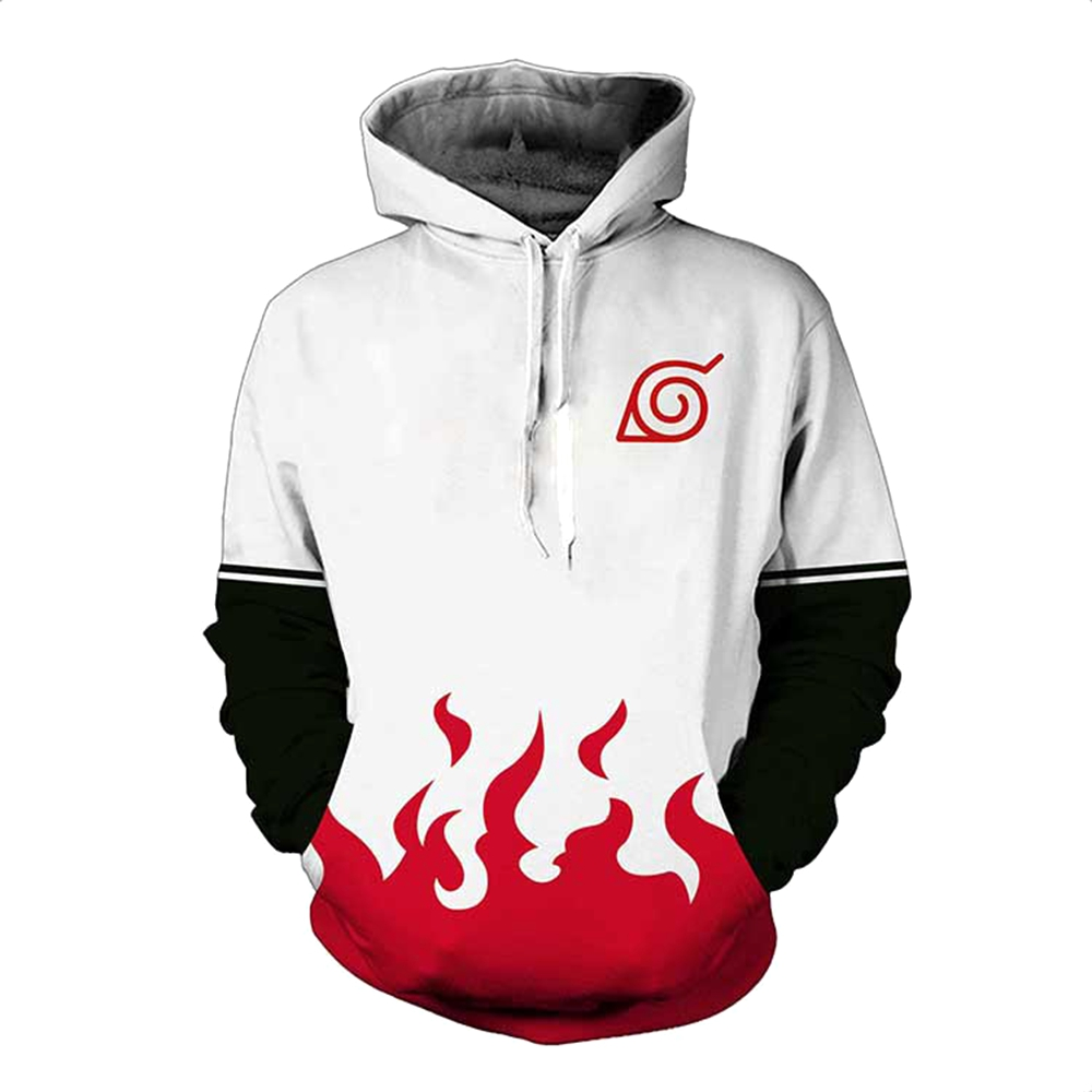 Naruto Yondaime Hokage 3D Hoodies Sweatshirt Men Women Fashion Namikaze Minato Harajuku Men's Naruto Hoodies Zipper Jacket Coat