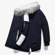 Jacket Winter New Warm Fashion Fleece Jackets Coats Fur Collar  Men's Parkas