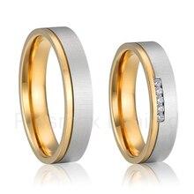 Anillos de boda de titanio para los hombres y las mujeres anillos últimas nuevo diseño alianza estilo único de joyería nupcial