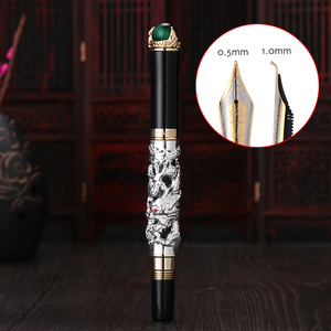 Image 4 - Jinhao Dragon Fountain Pen High Quality Pluma Stylo Plume Caneta Tinteiro Pluma FuenteTitanium Dolma Kalem Tips Collection Gifts