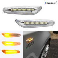 2 шт. Серебристый Белый Светодиодный Боковой габаритный фонарь указателя поворота 16 Светодиодный стример для BMW E46 E36 E90 E91 E60 E61 E81 E82 E87 E88 E92 E93