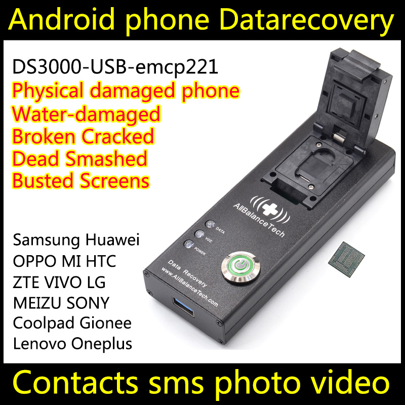 US $128 0 |Data recovery android phone DS3000 USB3 0 emcp221 tool Restore  Recover Contacts SMS Broken Damaged water damaged Dead-in Connectors from