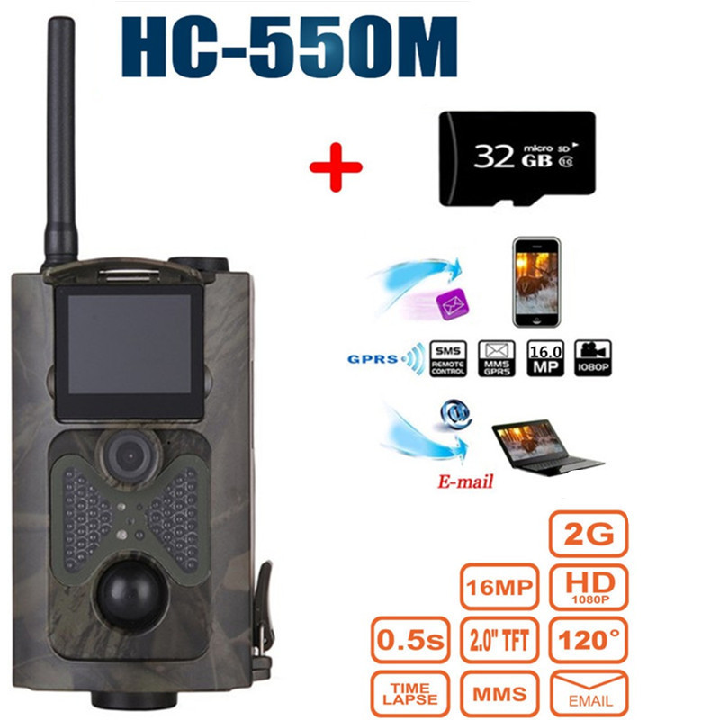 HC-550M Night Vision Hunting Camera  Wild Hunter Game Trail Trap Sensor Gsm Mms Infrared Wildlife Camera 120 Degree Wide Angle hot sale hunting wildlife camera night vision 940nm ir infrared trail cameras game hunter 9282