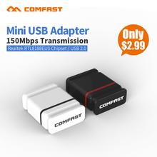 10p Cheap Comfast 150M Mini USB wireless network card RTL8188 WiFi signal transmitter receiver desktop WLAN USB Adapter CF-WU810