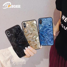 Luxury  6D water waveform Droplet laser tempered Fashion glass case for iPhone 8 back 7 6 6s X XS XR MAX
