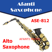 Afanti Music Eb tone / Brass body /  Nickel Plated Alto Saxophone (ASE-812)