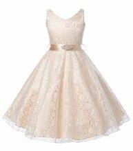 2017 Été Bébé Fille Robe Vêtements De Mode Dentelle Sans Manches Enfants Filles Princesse robes Pour 5 6 7 8 9 10 11 12 Ans Vêtements