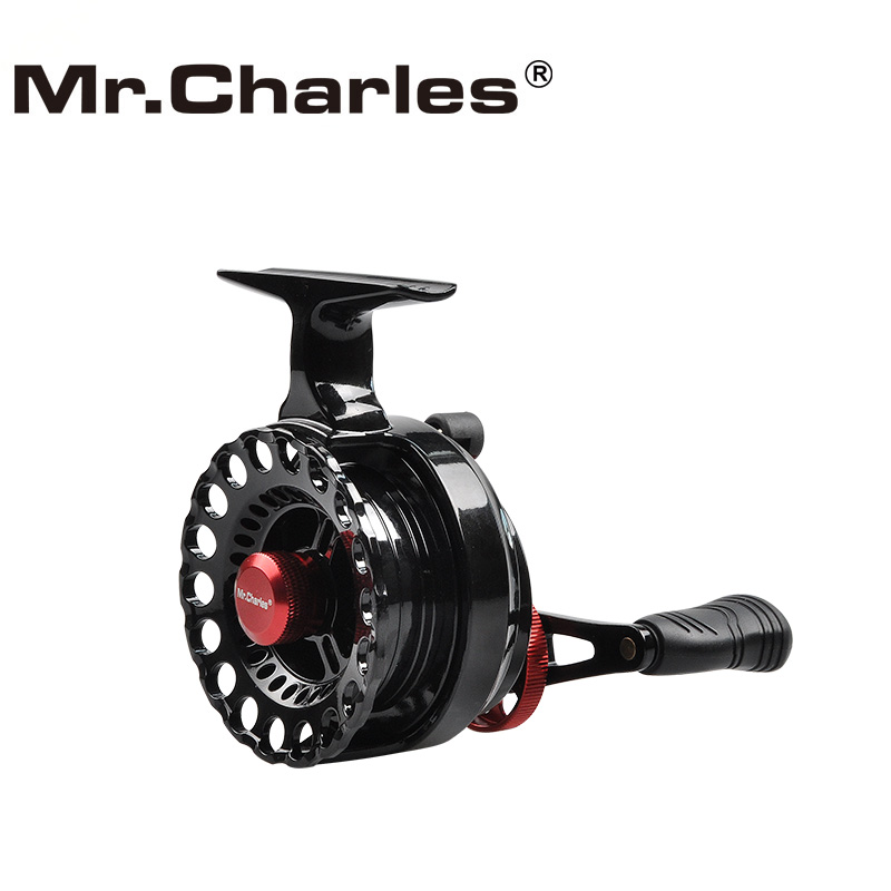 MrCharles New NND-H65 Gear ratio 3.6: 1Semimetal Fiske Vänster / Höger Hand Fly Fiske Reel Raft Isfiske Reel Fly Reel