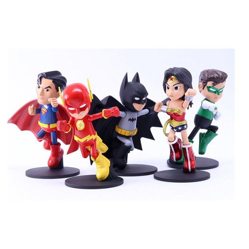 1pcs superhero Avengers Iron Man Hulk Captain America Superman Batman Action Figures PVC Model gift collection of childrens toys