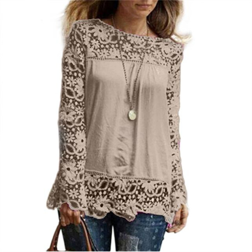 Blouses & Shirts Just Women Sexy Blouses Summer Casual Hollow Chiffon Short Sleeve Splice Lace Tops Blouse Shirts Blusas Mujer De Moda Plus Size 5xl