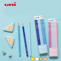 Japan UNI Palette 5050/5051 Wood Pencil 12pc/Set HB/2B Blue/Pink Color