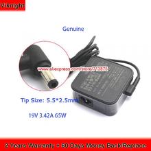 Oryginalne ADP-65GD zasilanie B 19V 3 42A 65w Adapter dla Asus X555l K401U S500 UX310U K401U X550LA X550CA X550V UX303UA X301A tanie tanio viknight 19 v ADP-65GD B US EU UK AU Power Cord ( Free ) AC100-240V~ 50-60Hz 1 5A 203g 5 5 x 2 5mm 75 20 x 75 20 x 30 50mm