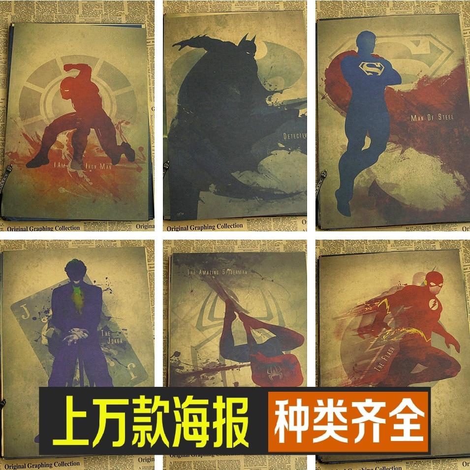 Marvel plakātu superheros Batman / dzelzs cilvēks / super vīrietis - Mājas dekors