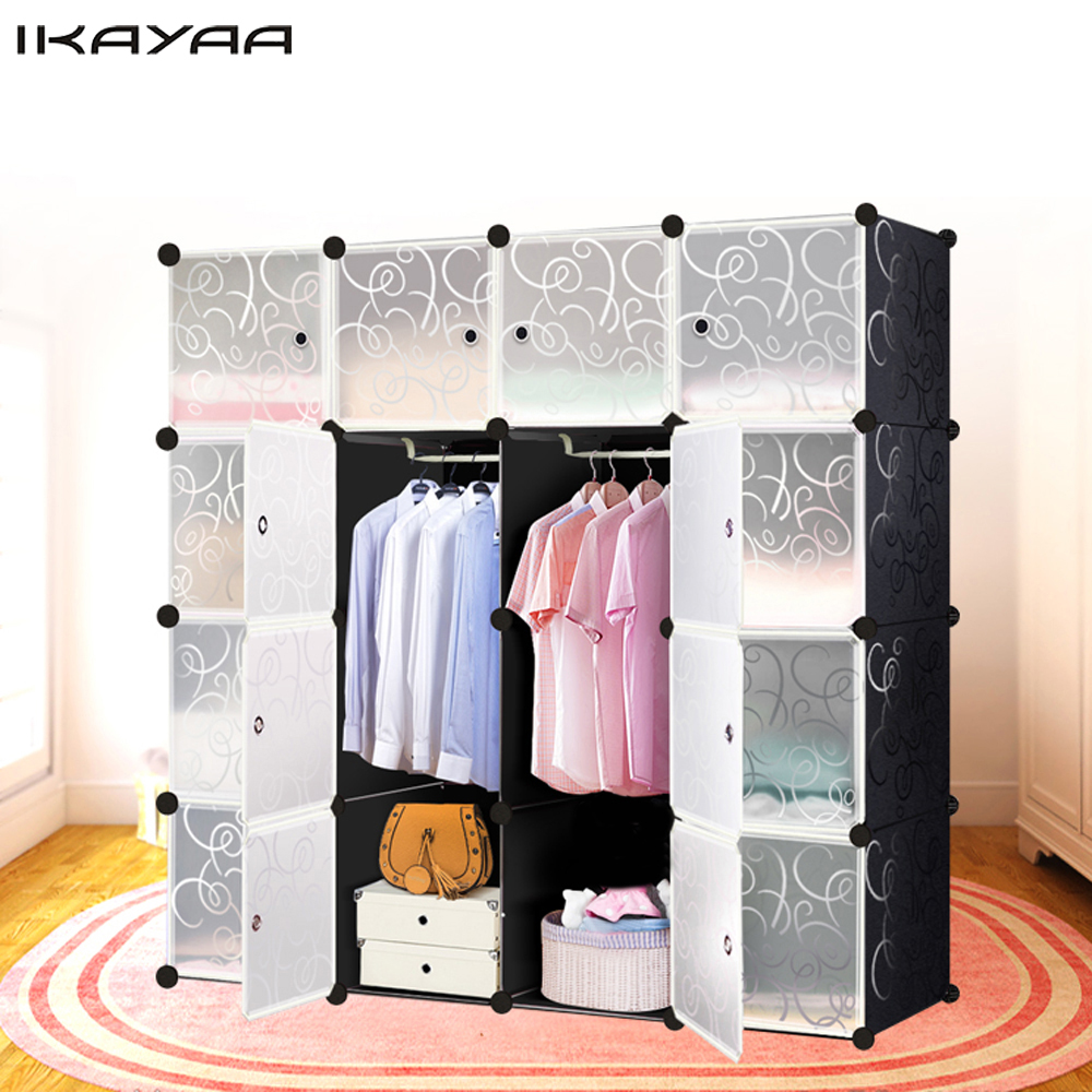 IKayaa US FR DE Stock Multi Use Clothes Closet Wardrobe