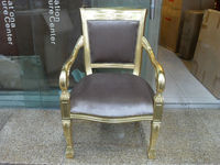 Family dining chair, hotel dining chair, wood dining chair,European style Leather