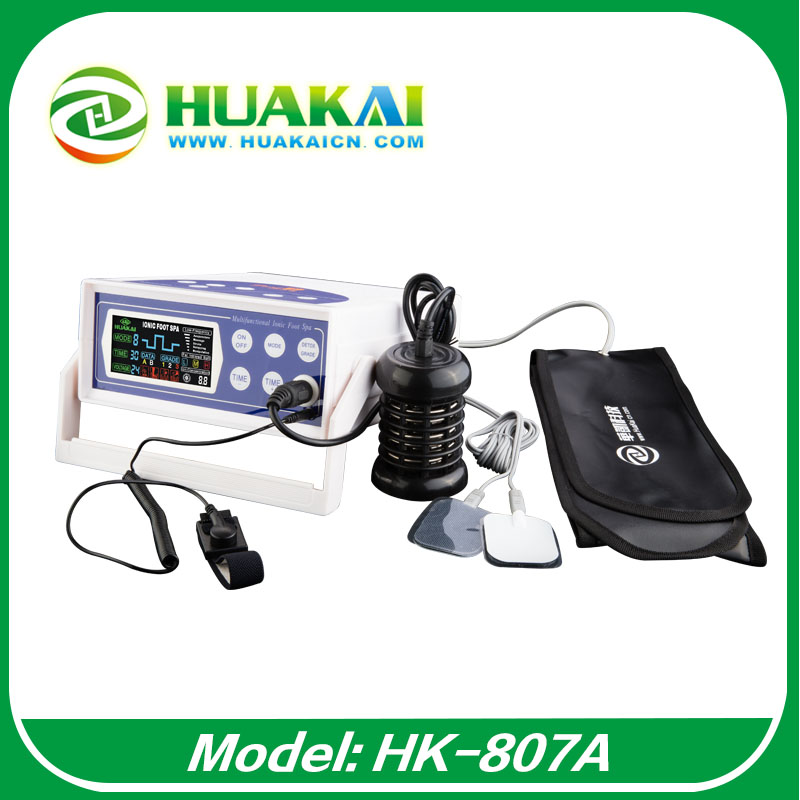 2015 Newest  Free  Shipping  Ion Detox Foot Spa Machine HK-807A With Stroke And Belt 2014 new free shipping dual display hk 809 with waistbelts machine for pedicure