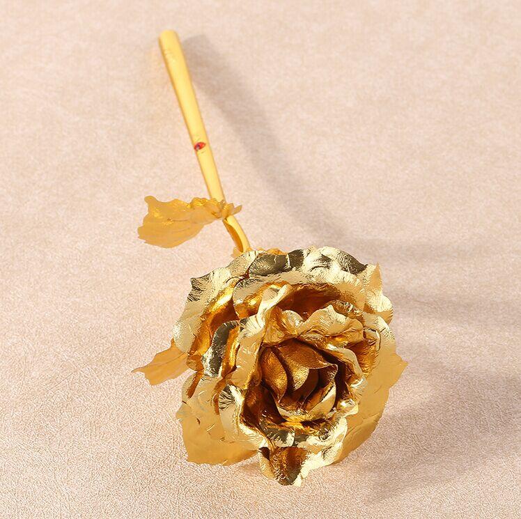 Regalo de navidad Rosa dorada Decoración de boda Flor dorada Regalo - Para fiestas y celebraciones - foto 4