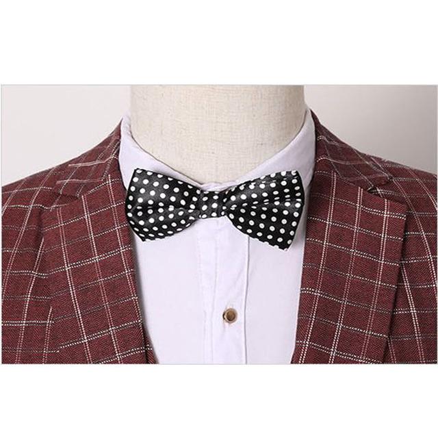 Hot Men wedding suits 2016 Business plaid suit 3 piece suit mens suits groom vestidos de festa blaser men Plus size 3xl 260