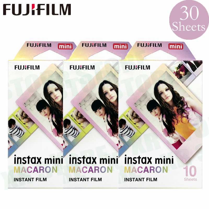 Fujifilm Instax Mini 8 9 Film macaron Fuji papier Photo instantané 30 feuilles pour 70 7 s 50 s 50i 90 25 partager SP-1 2 Lomo appareil Photo