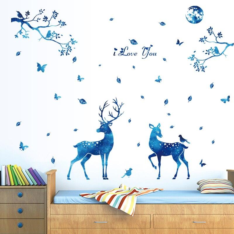 ჱمنتجات سيكا deerwall ملصقات للأطفال غرف نوم الحب ديكور البكر