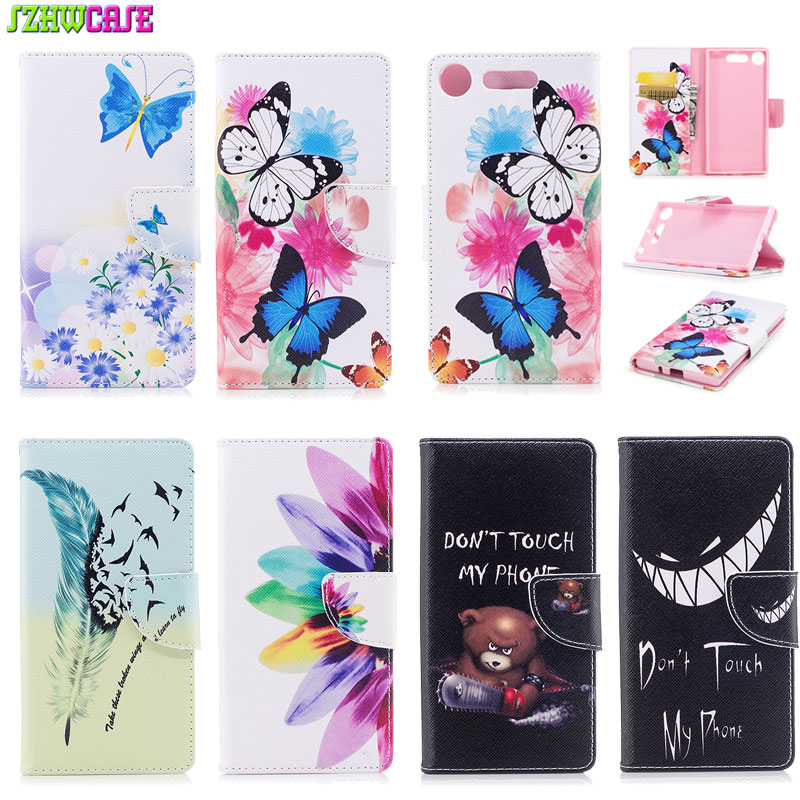 Fashion Flip Leather Cover For Sony Xperia XZ1 Case Stand Wallet Case For Sony Xperia XZ1 Phone Accessories Card&Cash Slots