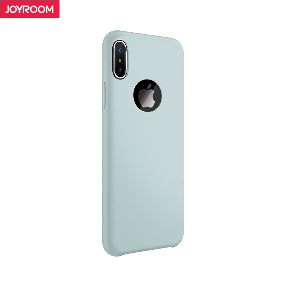 Joyroom жидкости силиконовый чехол для iPhone X кожи мягкая Телефон задняя крышка для iphone х чехол