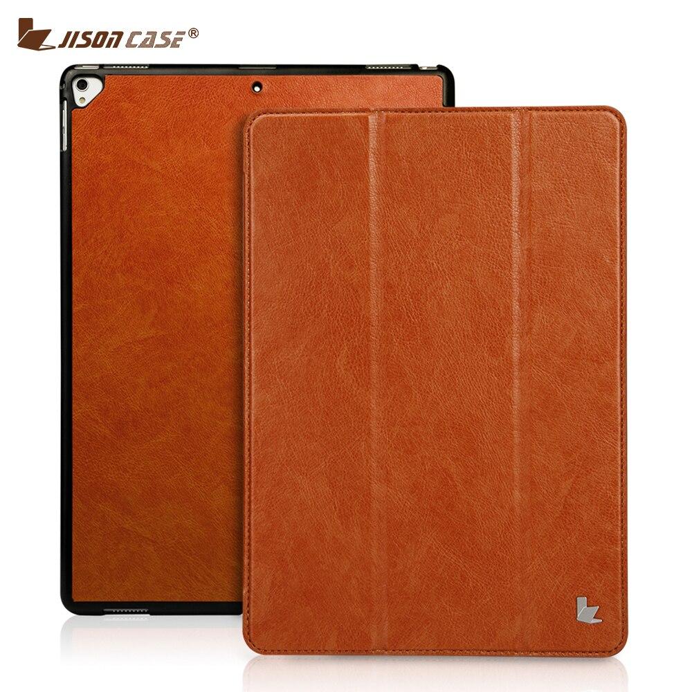 Jisoncase Smart Cover pour iPad Pro 12.9 2017 Flip Cas PU Tablet Case en cuir pour iPad Pro 12.9 pouce 2015 Libéré Coque Capa