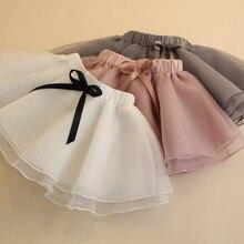 DFXD New Arrival Kids Tutu Skirt 2018 Summer Soild Ribbons Pleated Toddler Girls Skirts Korean Baby Girls Princess Skirt 2-8Y цена 2017