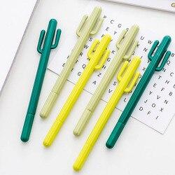 Criativo cactus gel canetas bonito kawai escola coisa kawaii item artigos de papelaria loja material bts escritório acessório ferramenta estacionária