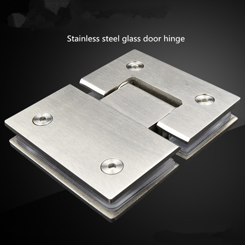 Free shipping steel glass door, bathroom clip, shower room, glass hinge, frameless glass door clip, 180 degree bidirectional freeshipping glass clip base ns4802