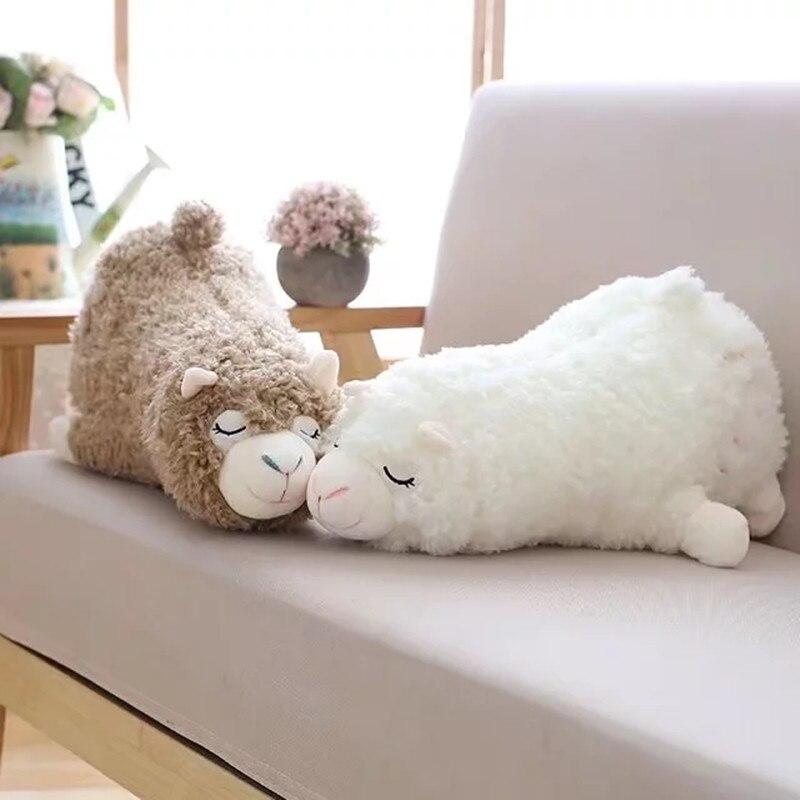 45 cm Japanischen Alpacasso Plüschtiere Liegen Alpaka Spielzeug Puppen weiche Tier Spielzeug Kawaii Geschenk für Kinder Nette Kissen Geschenk spielzeug