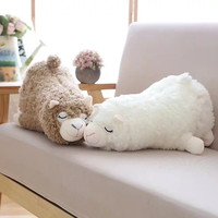 45cm Japanese Alpacasso Plush Toys Stuffed Lying Alpaca Toys Dolls Soft Animal Toys Kawaii Gift For