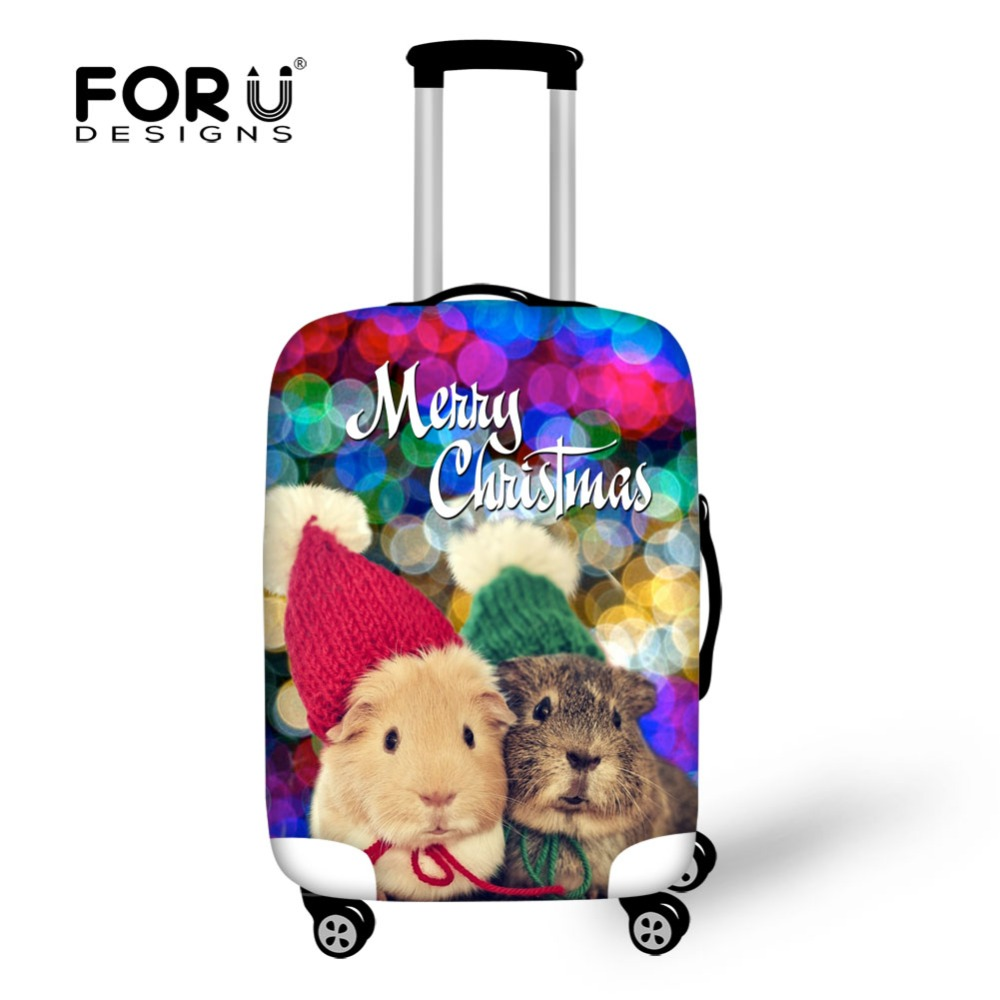 FORUDESIGNS Christmas Gift Thick Elastic Trolley Luggage Covers Stretch Dustproof Cover for 18-30 inch Suitcase Protective Cover